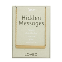 Hidden Messages Slide Bar Engraved Loved Necklace