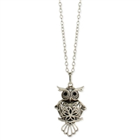 Zad Jewelry Owl Filigree Diffuser Pendant Necklace