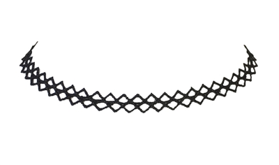 Zad Jewelry Zig Zag Crochet Choker Necklace