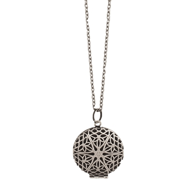 Zad Jewelry Filigree Diffuser Locket Pendant Necklace