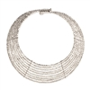 Zad Jewelry 'Goddess' Metal Beaded 9 Line Collar Necklace