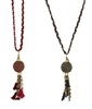 Zad Jewelry Braided Thread & Ball Tassel Long Necklace