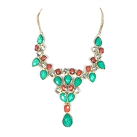 Amrita Singh Crystal Dune Bib Necklace