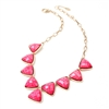 Amrita Singh Kensie Faceted Resin Stone Bib Necklace