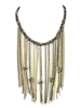 Amrita Singh Xoco Multi Tone Fringe Chain Necklace