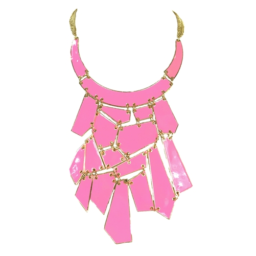 Amrita Singh Broome Street Geometic Bib Statement Necklace