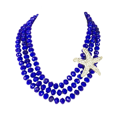 Amrita Singh Tulum Starfish Statement Bib Necklace