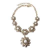 Amrita Singh Cuali Floral Collar Necklace
