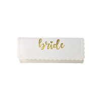Bride Scalloped Jewelry Roll Travel Case