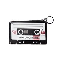 Retro Cassette Tape Coin Purse Key Ring Blank Tape