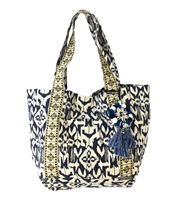 Steven By Steve Madden Nessa Printed Canvas Tote Bag
