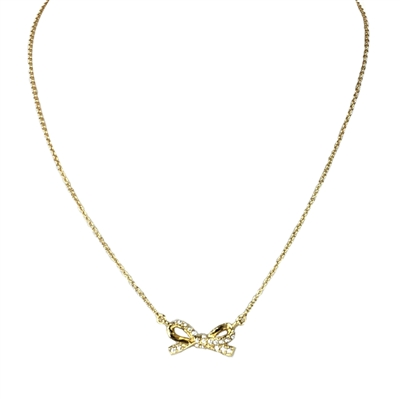 Kate Spade 'Skinny Mini' Pave Bow Necklace