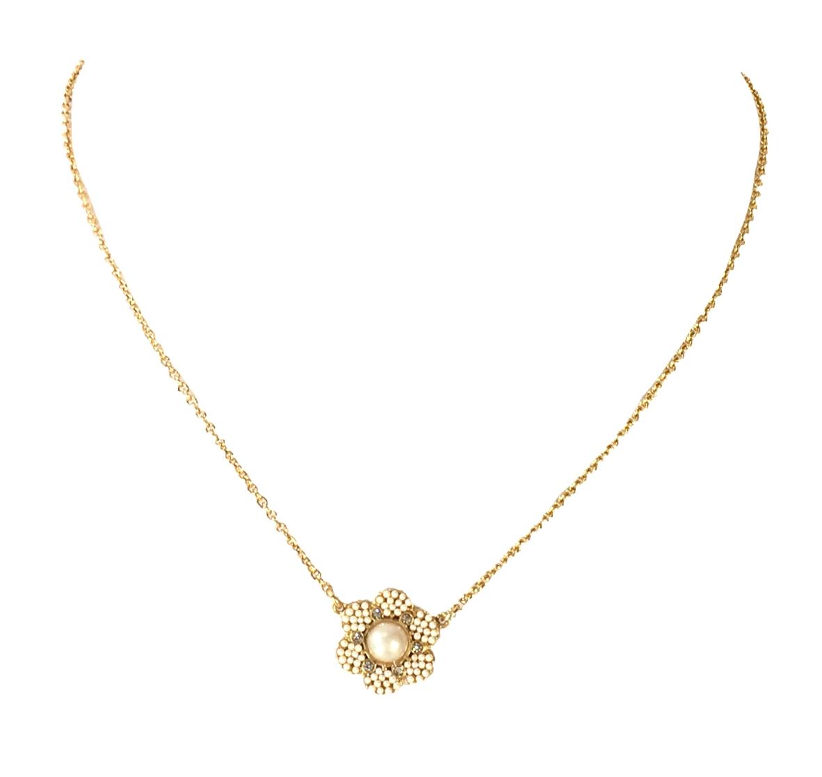 e4abd90d962c12 Kate Spade Park Floral Mini Pendant Necklace, Cream