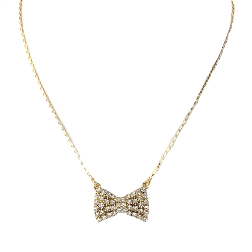Kate Spade Sparkling Bow Pendant Necklace