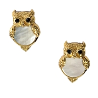Kate Spade Into The Woods Owl Mother of Pearl Stud Earrings