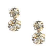 Kate Spade Pick A Pearl Crystal Cluster Drop Earrings