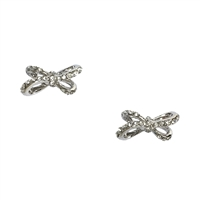 Kate Spade Tied Up Pave Bow Stud Earrings