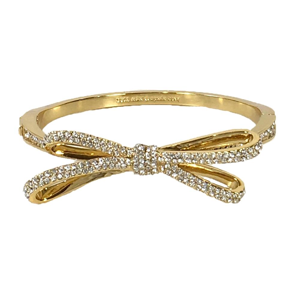 Kate Spade Pave Bow Bangle Bracelet Gold