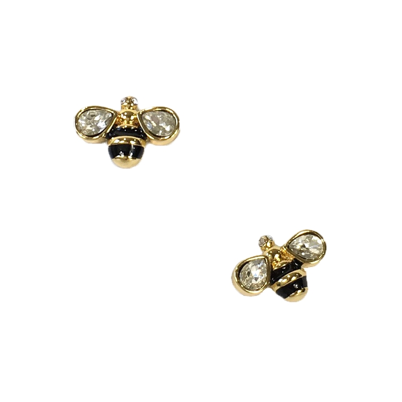 Kate Spade Down the Rabbit Hole Bee Mini Stud Earrings cce7e2d4ac8