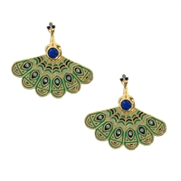 Kate Spade Full Plume Peacock Ear Jacket Studs Earring