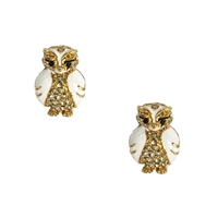 Kate Spade Star Bright Pave Owl Stud Earrings