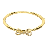 Kate Spade Bow Meets Girl Pave Bow Bangle Bracelet