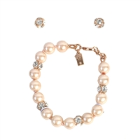 Kate Spade Lady Marmalade Glass Pearl Bracelet & Stud Earrings Se