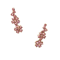 Kate Spade Crystal Flower Ear Pin Crawler Earrings