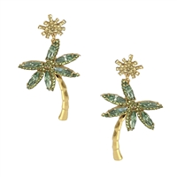 Kate Spade California Dreaming Palm Tree Statement Drop Earrings