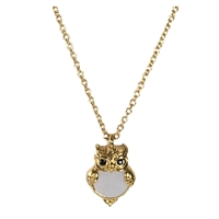 Kate Spade Into The Woods Owl Mother of Pearl Pendant Necklace