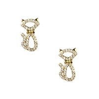 Kate Spade Jazz Things Up Pave Cat Stud Earrings