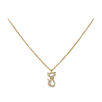 Kate Spade Jazz Things Up Pave Cat Pendant Necklace