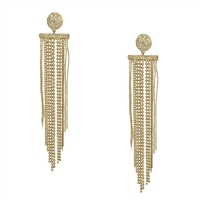 Kate Spade Glitter Shimmer Statement Fringe Drop Earrings