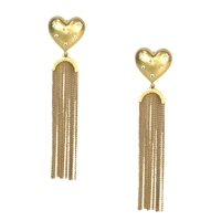 Kate Spade My Precious Heart Statement Fringe Drop Earrings