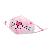OMG! Tie Dye Bella Kitty Reusable Face Covering with Interior Pocket,
