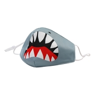 Boys Kids Shark Face Icon Reusable Face Covering