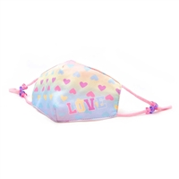 Love Pastel Tie Dye Reusable Face Covering with Interior Pocket