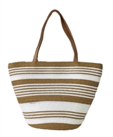 Magid Striped Straw Mini Tote