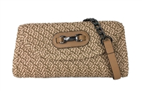 Magid Convertible Straw Clutch