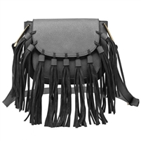 Melie Bianco Blair Vegan Leather Fringe Crossbody