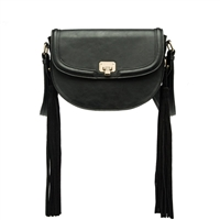 Melie Bianco Lennon Vegan Leather Tassel Crossbody