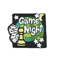 Game Night Embroidered Iron On Patch Applique