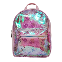 OMG! Accessories Miss Gwens Unicorn Snacks Clear Mini Backpack