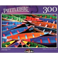 PuzzleBug Colorful Boats, Nepal 300 Small Pc Jigsaw Puzzle
