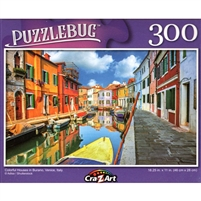 Colorful Houses in Burano, Venice, Italy 300 Small Pc Jigsaw Puzzle