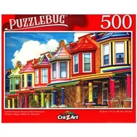 PuzzleBug Colorful Houses in Charles Village 500 Pieces Jigsaw Puzzle