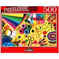 PuzzleBug Creative Crafting 500 Pieces Jigsaw Puzzle