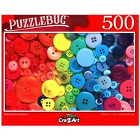 PuzzleBug Mixed Rainbow Buttons 500 Pieces Jigsaw Puzzle