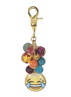 Lenora Dame LOL Laughing Face Emoji Beaded Purse Charm