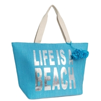 Life Is A Beach Insulated Oversized Cooler Tote  Beach Bag